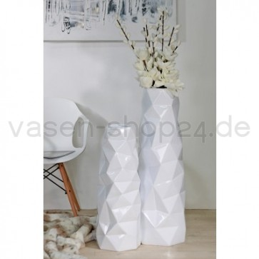 bodenvase triple wei v casablanca h 92 o 70cm. Black Bedroom Furniture Sets. Home Design Ideas