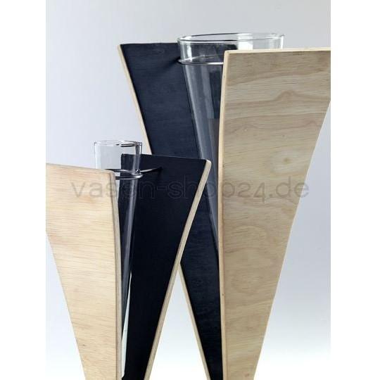 designer bodenvase holz in v form im vasen shop24. Black Bedroom Furniture Sets. Home Design Ideas