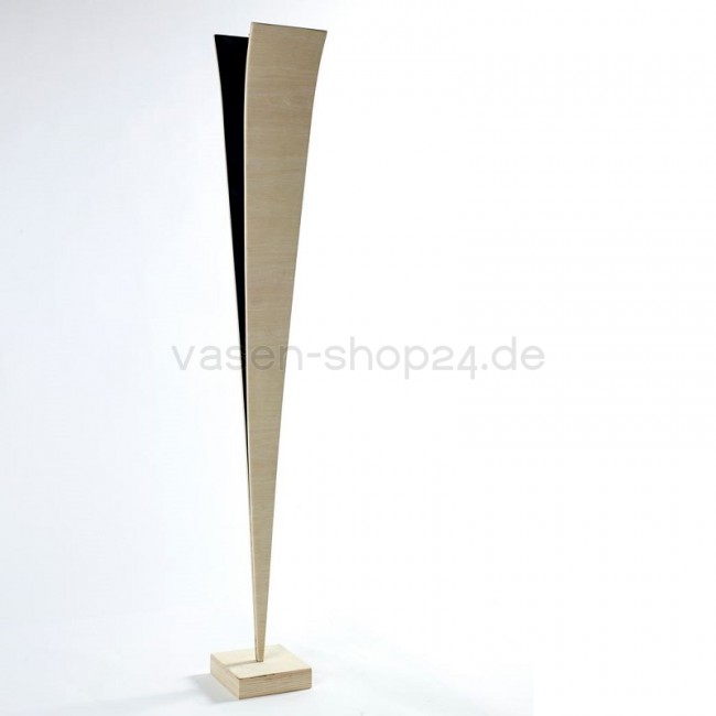 designer bodenvase holz in v form im vasen shop24. Black Bedroom Furniture Sets. Home Design Ideas