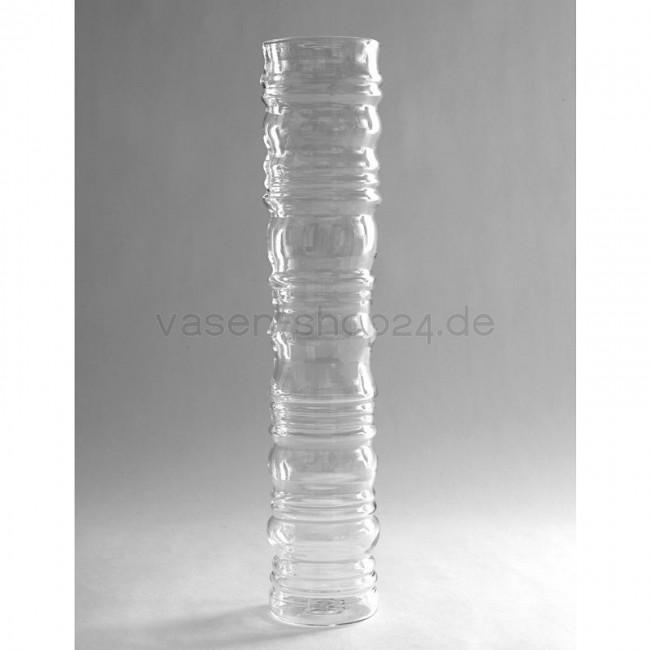 Vase Zylinder Glas Relief H 45cm